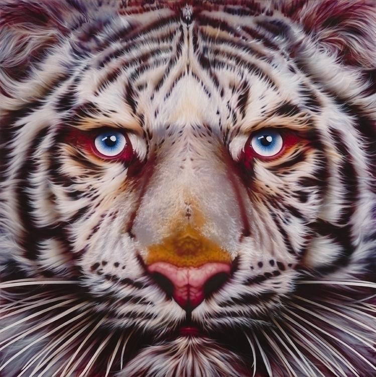 White Tiger/Panyera Tigris - Ai - eyanobi | ello