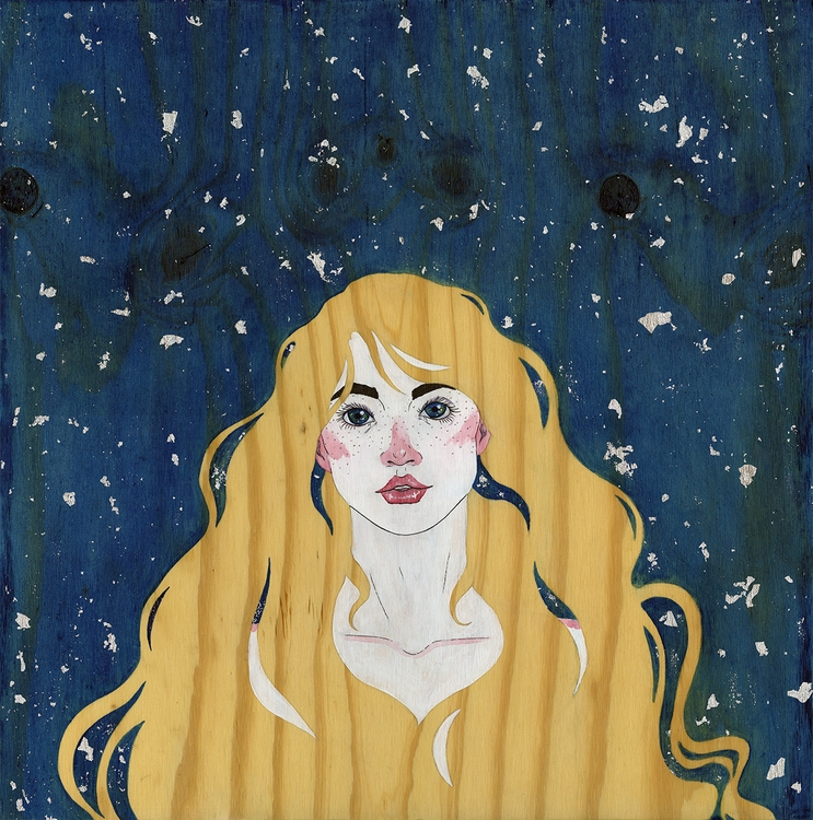 Starry eyed - painting, illustration - jennifervolkman | ello