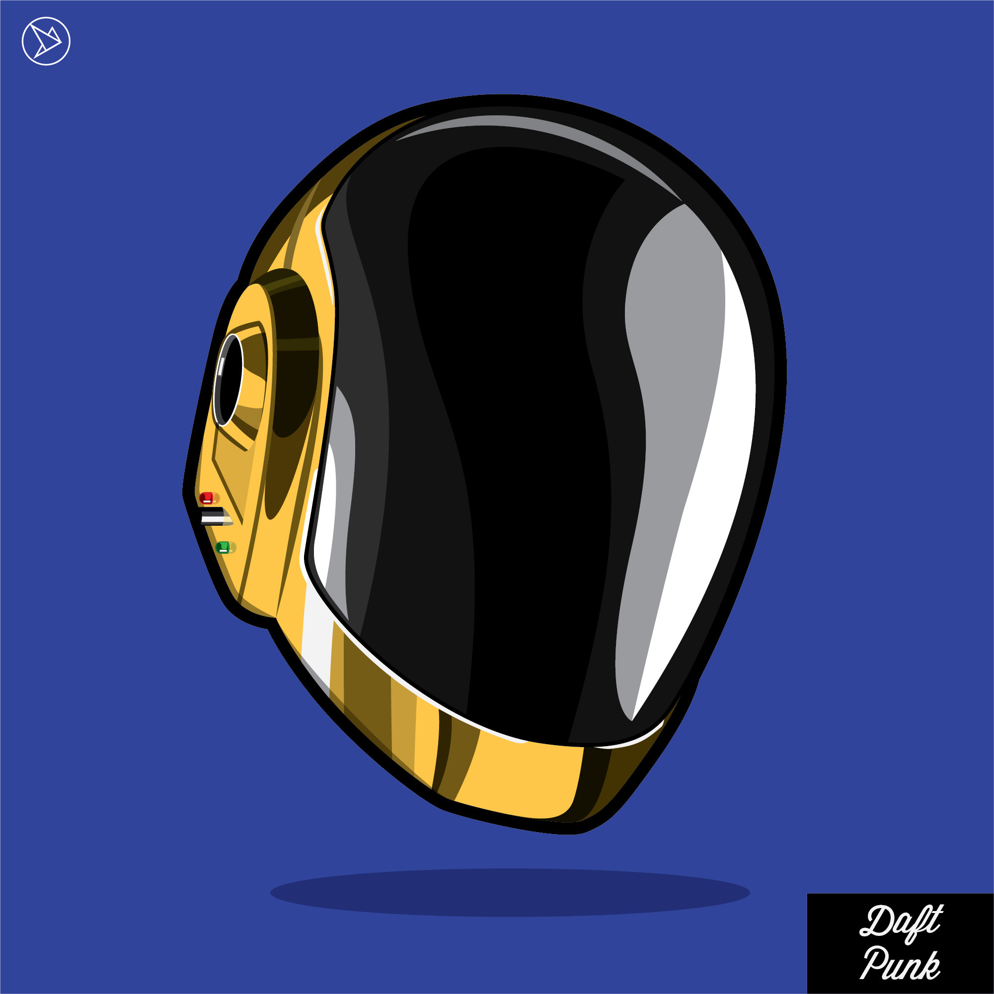 Daft Punk - illustration, cartoon - superslap15 | ello