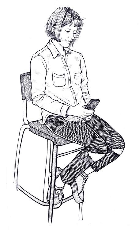live portrait - sketch, traditionalart - tinch-5314   ello