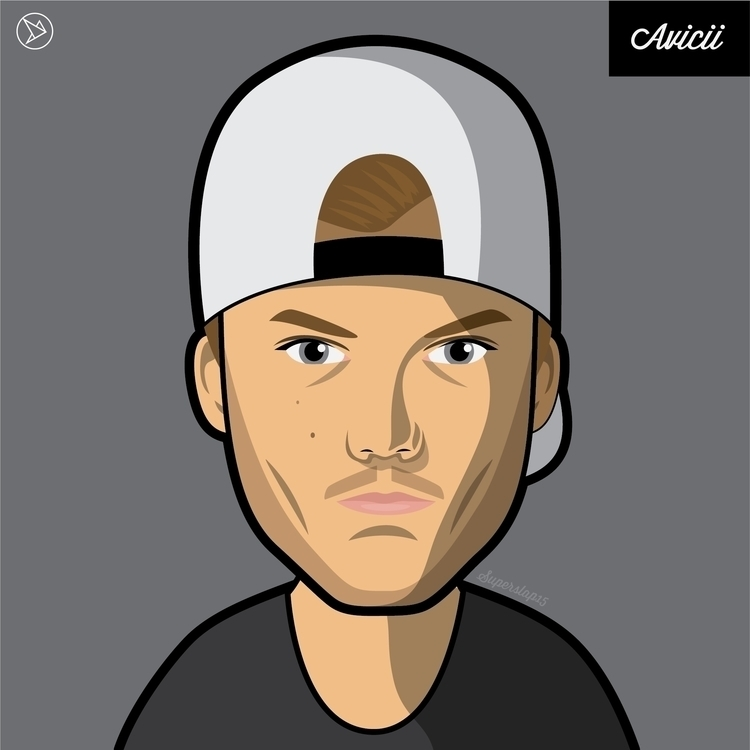 Avicii - vector, illustration, cartoon - superslap15 | ello