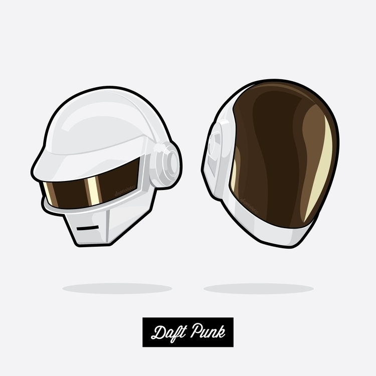 White Daft Punk - illustration, vector - superslap15 | ello