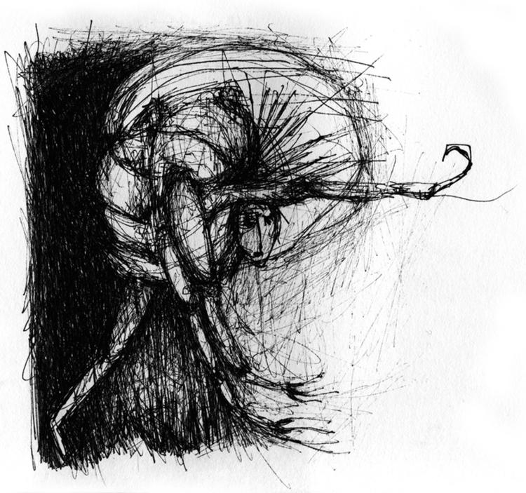 illustration, blackandwhite, conflict - tychonikum | ello