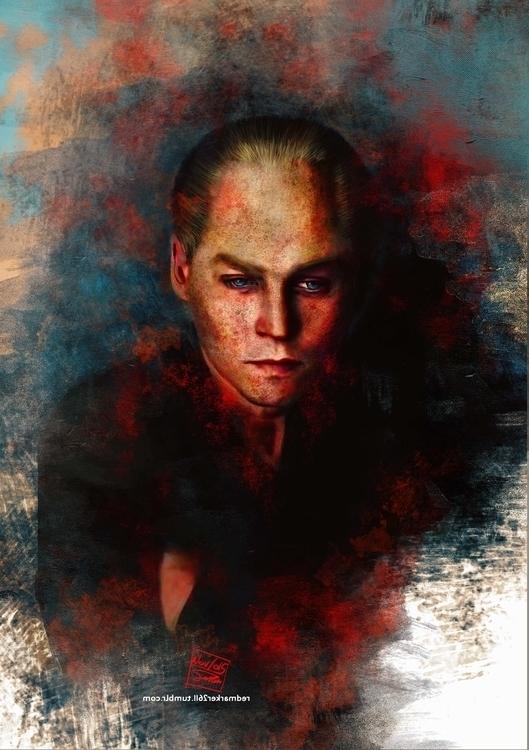 Black Mass - illustration, painting - redmarker2611 | ello