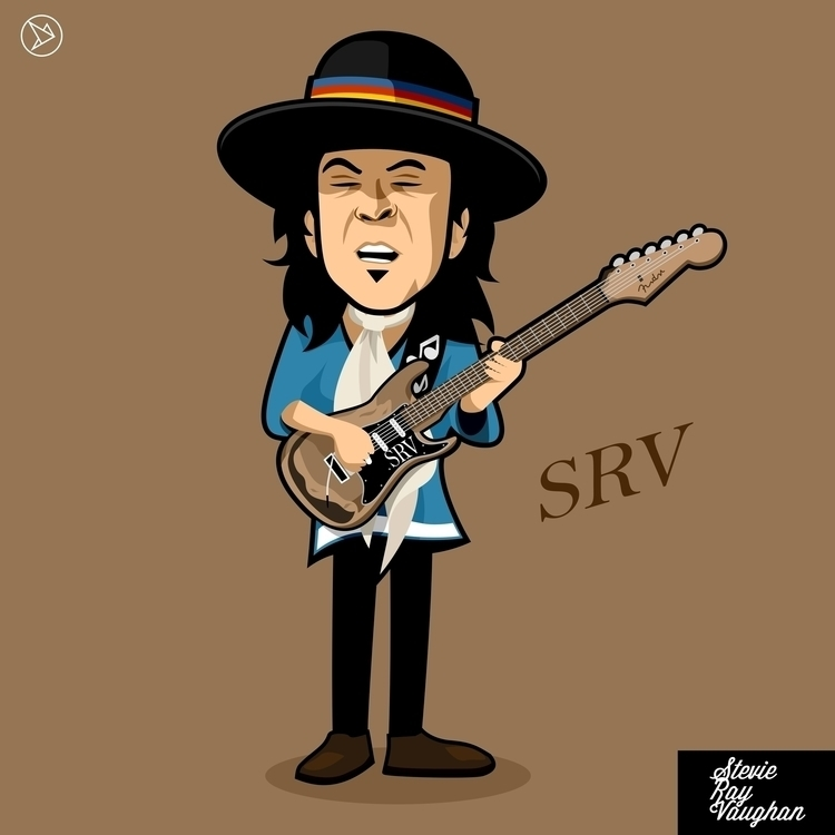 Stevie Ray Vaughan (SRV - vector - superslap15 | ello