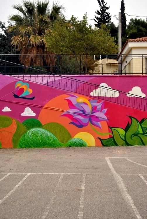 spring - flower, mural, design, school - kaiman-6057 | ello