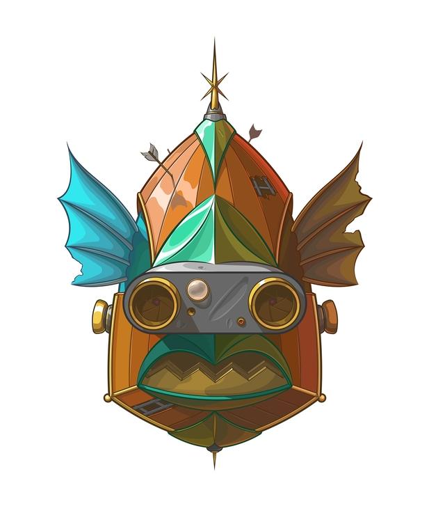 Fish invader - illustration, painting - artem_cowy | ello