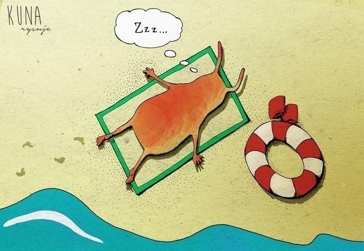 illustration, mixedmedia - kunarysuje | ello
