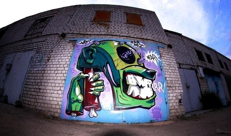 Garage art - painting, character - artem_cowy | ello