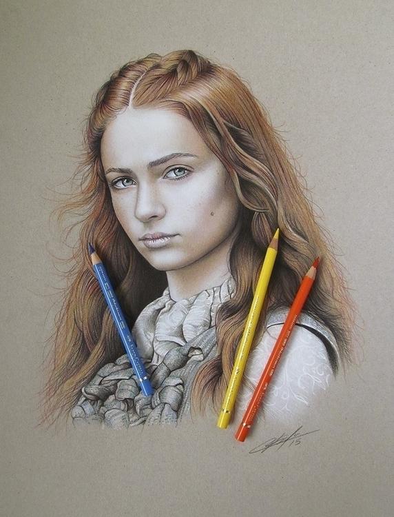Fan-art Sansa Stark, airbrush c - jcberbes | ello