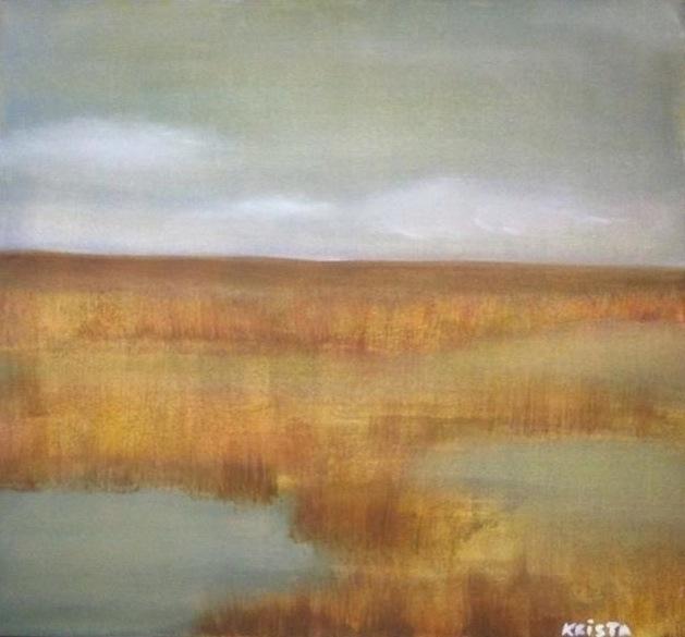 marsh - painting, #oilpaint, environment - kristagill | ello
