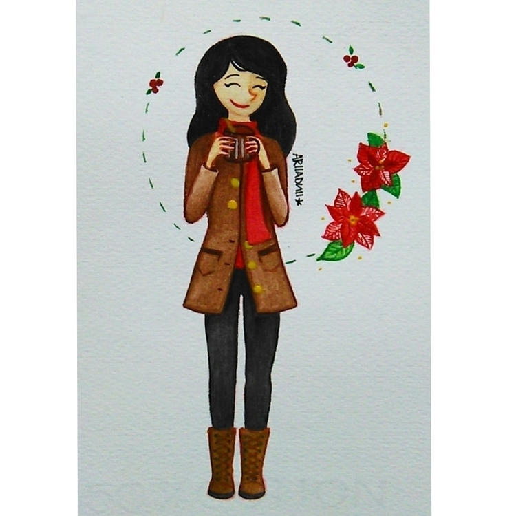 Ponches Navideños - illustration - ariiadnii | ello