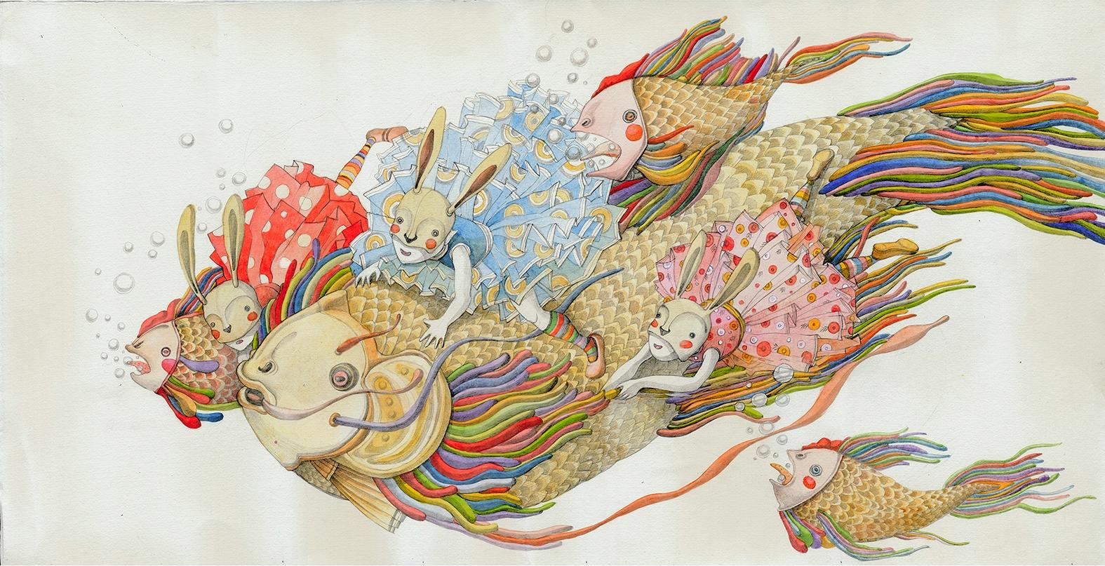 children'sillustration, fishes - linakusaite | ello