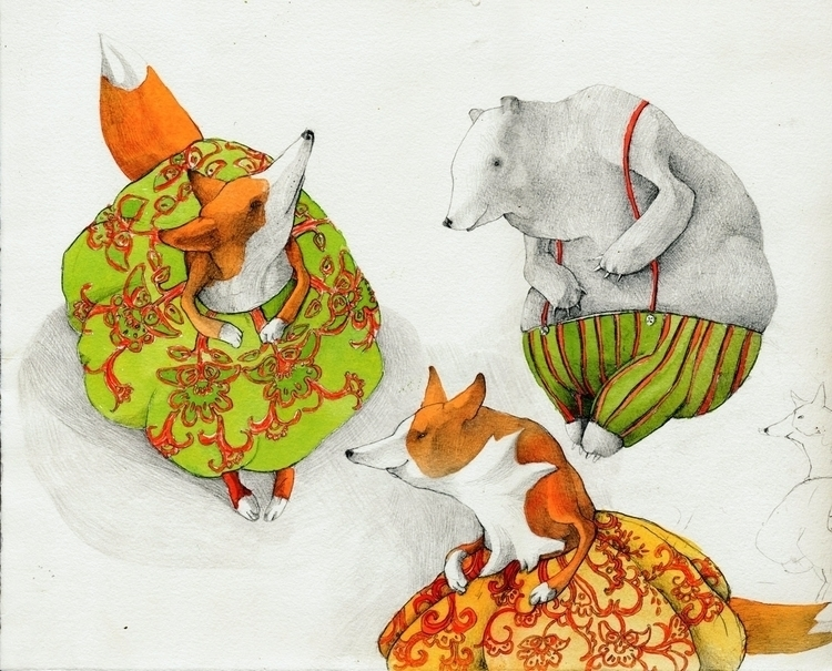 fox, animals, animation, books - linakusaite | ello