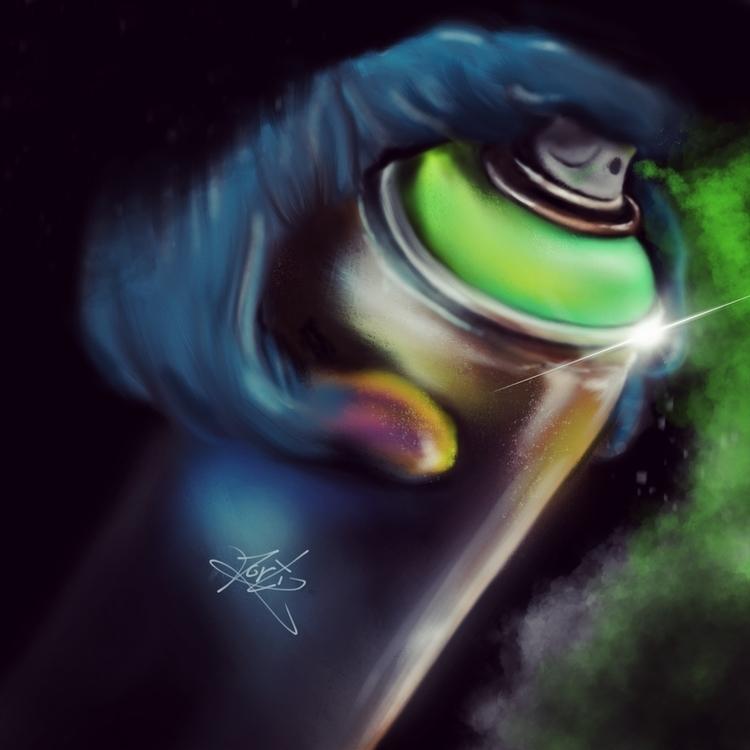 Spray paint - procreate, drawing - jortiz-9644   ello