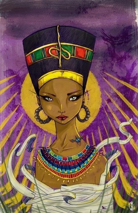 Queen Nefertiti - nefertiti, illustration - cryssy-7658 | ello