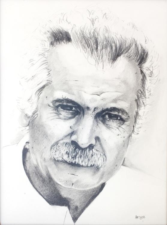 Georges Brassens Crayon sur pap - artnoz   ello