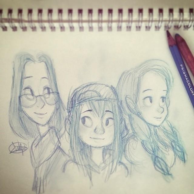 lady sketches today  - luigil-2352   ello