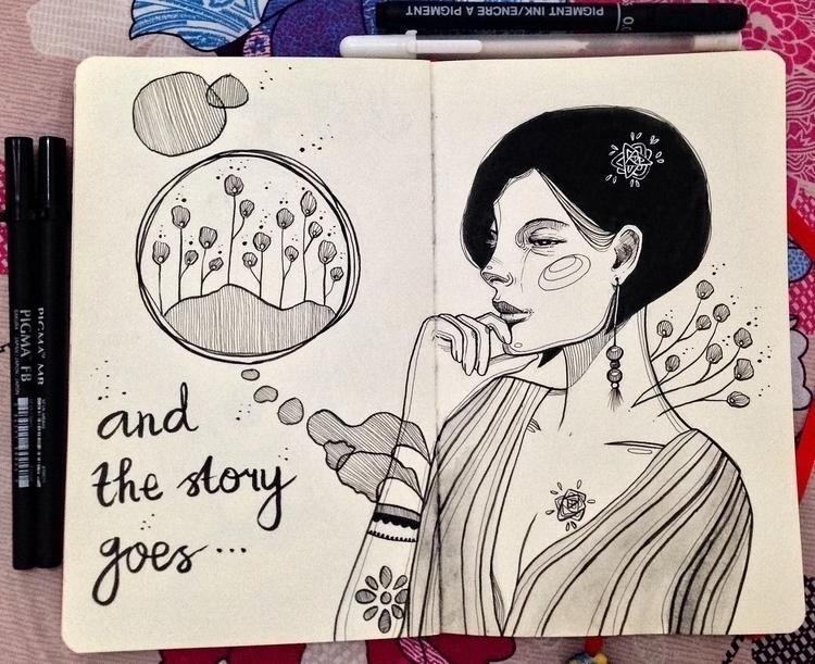 enjoy drawing brush pens ^___^ - laura_t-4759 | ello