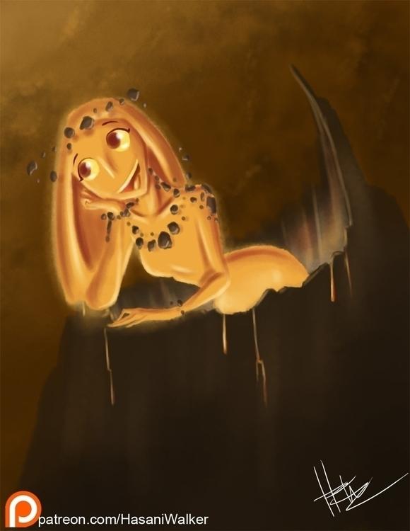 Hawaiian Goddess Pele - illustration - hasaniwalker | ello