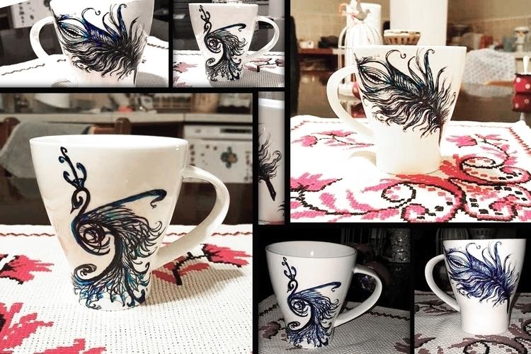 Peacock 3 Feather 1 - painting, illustration - aiakira | ello