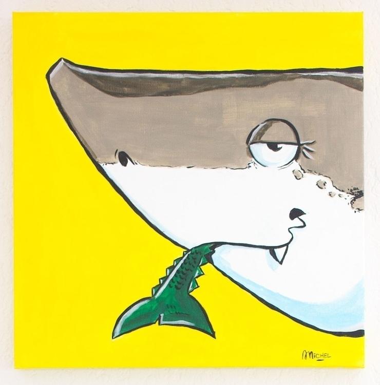 Miam (shark version) Acrylique  - artnoz | ello