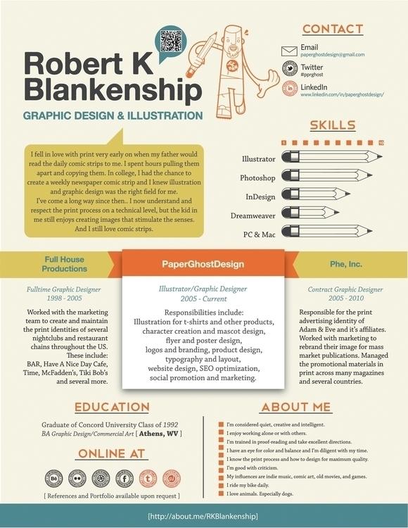 resume design. updating! social - paperghostdesign | ello