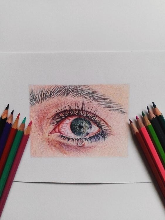drawing, eye, cry, tears, illustration - frhhnnhzmn | ello