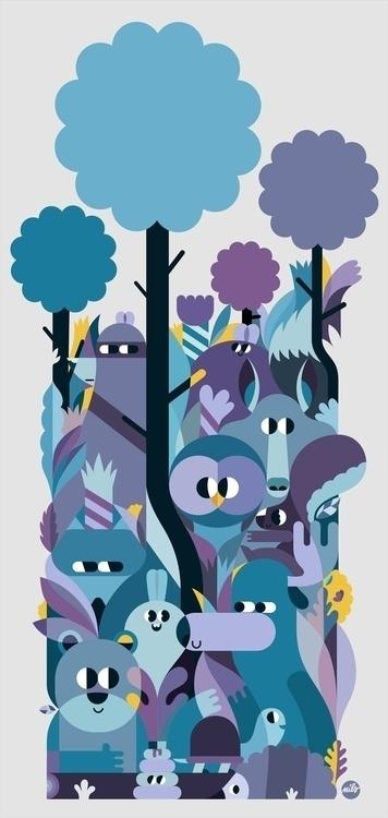 Woods - illustration, drawing, fonzynils - fonzynils-1431 | ello