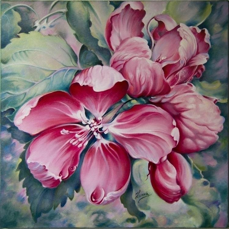 Flower Crab-apple -oil painting - annahannahart | ello
