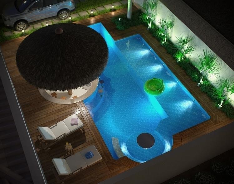 pool, corona, night, 3d - felipedias-1272 | ello