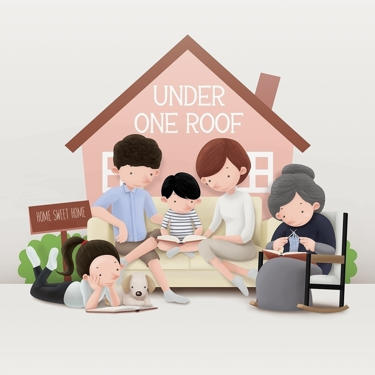 Roof - Home Sweet - illustration - limwangwei | ello