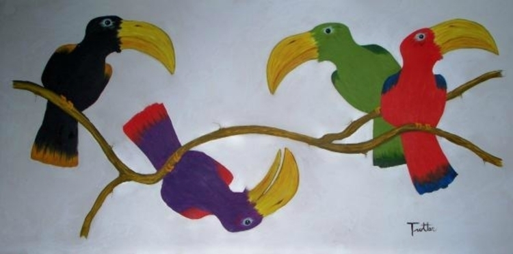 Talking Stick oil painting patr - ptrotter | ello