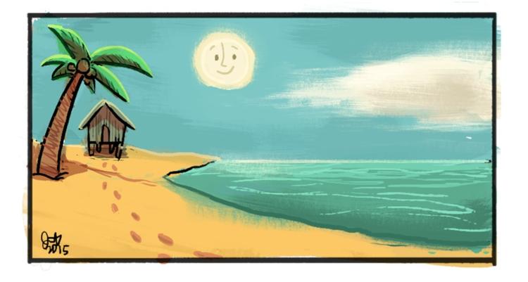 environment sketch beach - jm_amante02 | ello