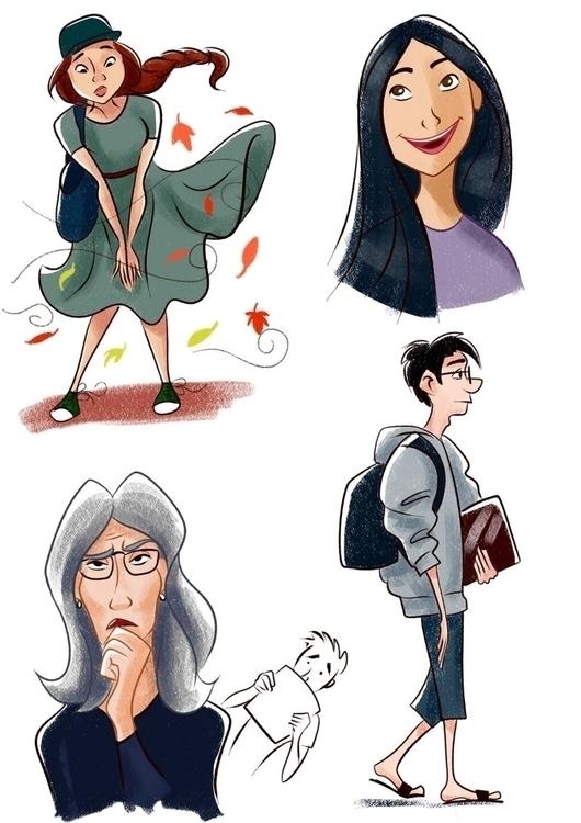 People Melbourne - illustration - dominicdraws | ello