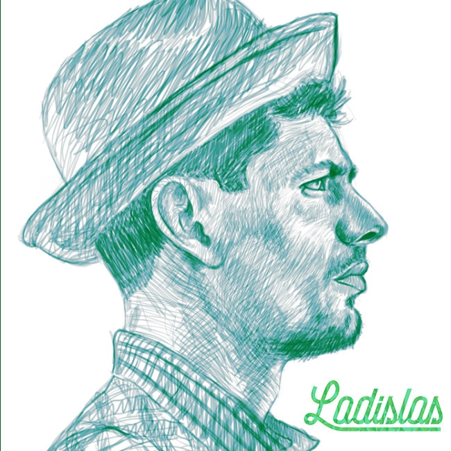 initial sketch digital tribute  - ladislas-2174   ello