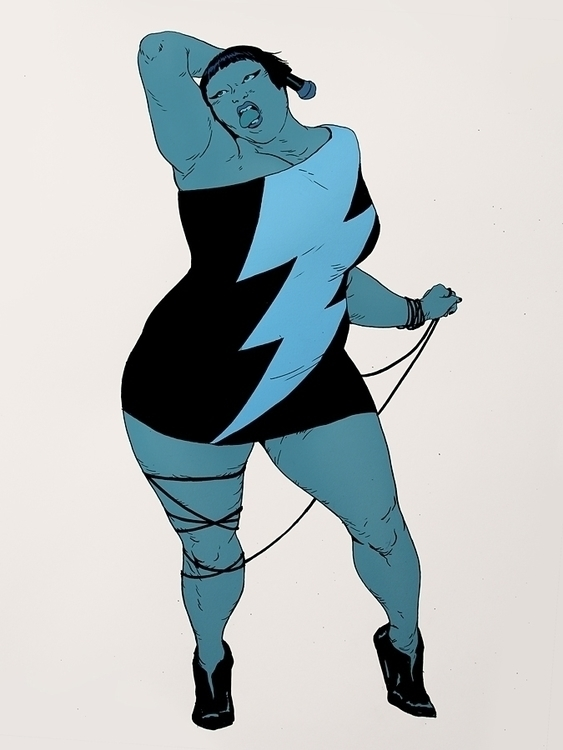 Beth Ditto | Ink Photoshop - robertsammelin - robertsammelin-9753 | ello