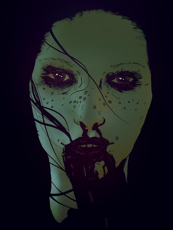 Freckled Feral   Ink Photoshop - robertsammelin-9753   ello