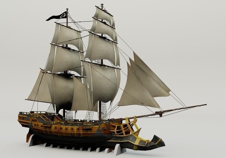 animation, 3d, #Ship - gobymax | ello