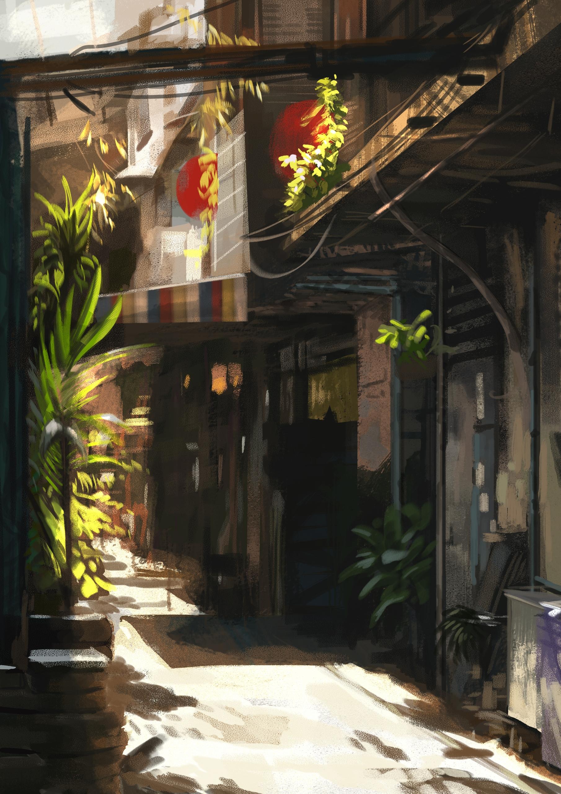 alley (study - street, enviroment - stephanieboehm | ello