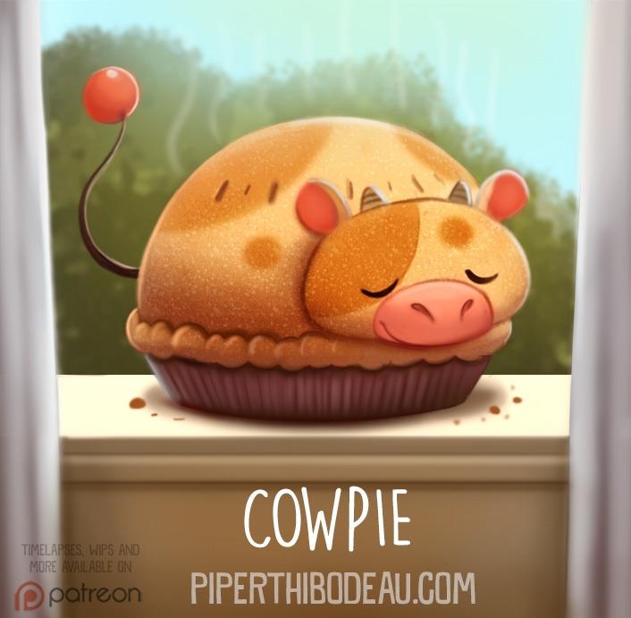 Daily Paint 1575. Cowpie - piperthibodeau | ello