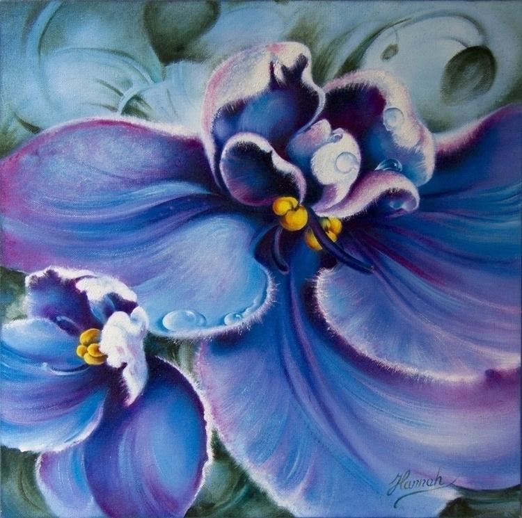 Violet -oil painting canvas - oiloncanvas - annahannahart | ello