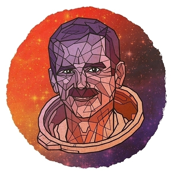 Chris Hadfield - geometric, portrait - alexanderwalker-5442 | ello