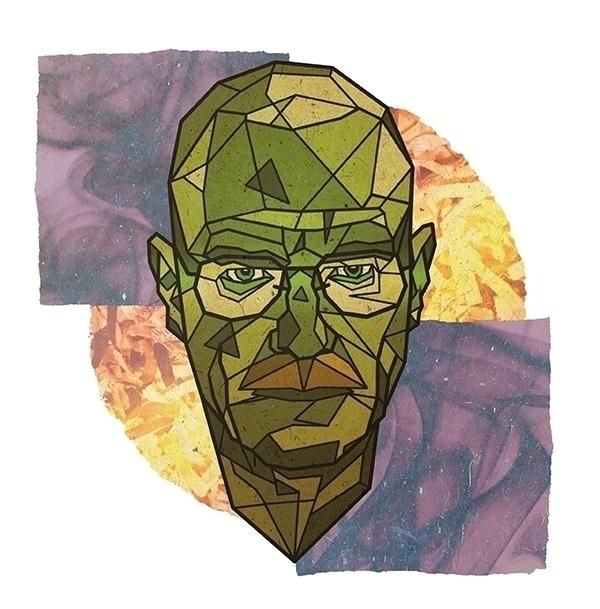 Brian Cranston - geometric, portrait - alexanderwalker-5442 | ello