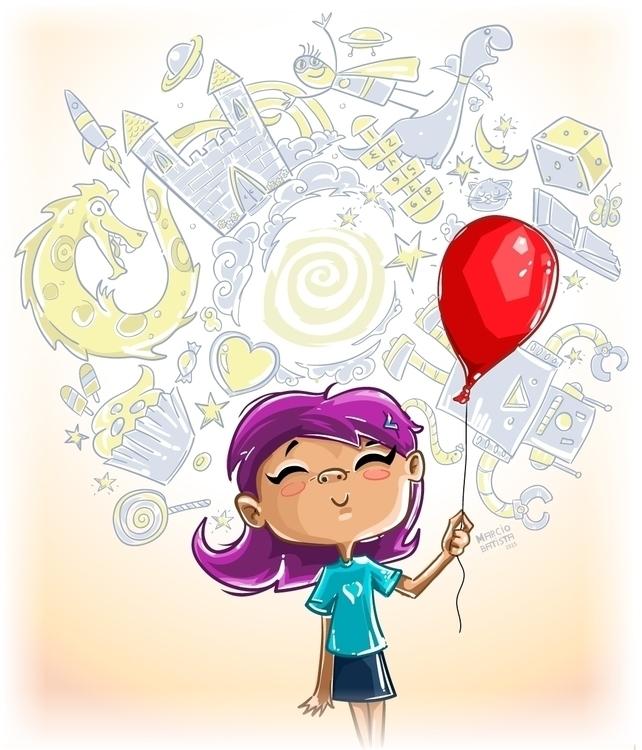 Cabeça de Criança - illustration - marciobatista | ello
