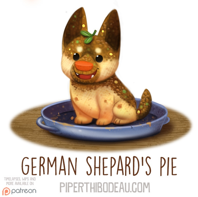 Daily Paint 1578. German Pie - piperthibodeau | ello