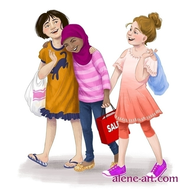 Friendship - illustration, kidlitart - aleneart | ello