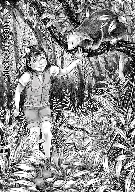 Exploring - illustration, kidsillustration - aleneart   ello