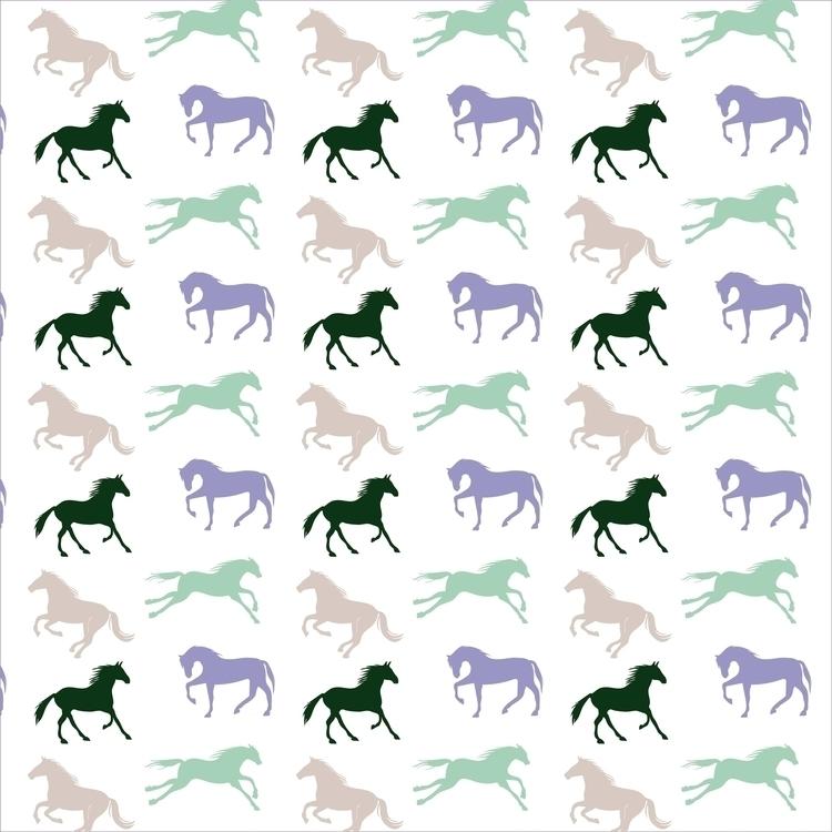 Horses pattern - horses, patterndesign - cibelle-7505 | ello