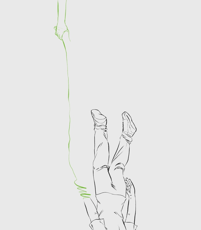 Happily Drown - illustration, drawing - jordanjacinto | ello